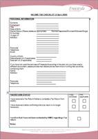 Tax Return Questionnaire