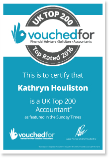 Kathryn Houliston Rated a Top UK Accountant in the Sunday Telegraph