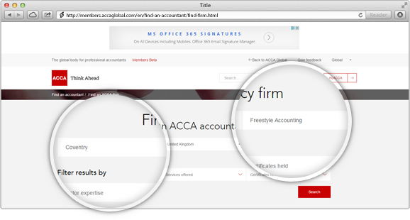 Check to see if they are registered with ICAEW or ACCA