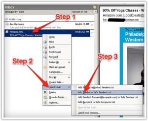 Whitelist emails in Outlook 2003 & later - Freestyle Accounting