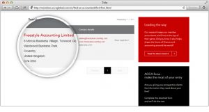 Check to see if they are registered with ACCA