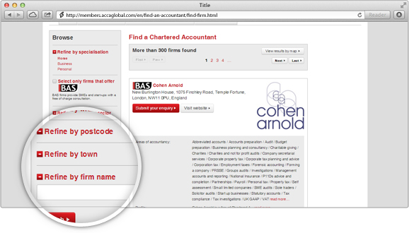 Check to see if they are registered with ICAEW